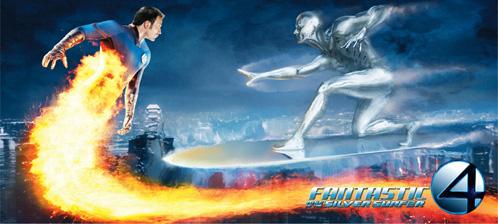 Banner de Los 4 Fantásticos y Silver Surfer